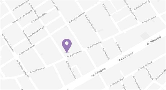 Mapa do endereço da Objetiva